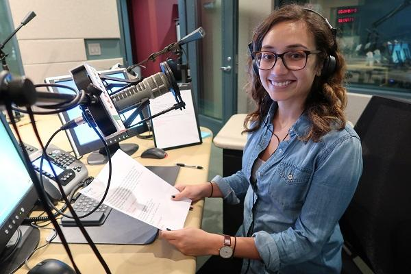 State of Things Managing Editor Anita Rao in the studio. She shares her favorite moments from 2017, including when she filled in as guest host for the show.