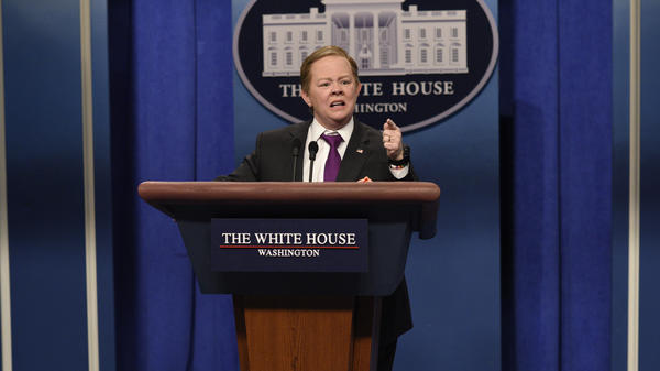 Melissa McCarthy's Saturday Night Live impression of White House press secretary Sean Spicer was one of the most viral moments of 2017.