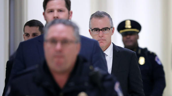 FBI Deputy Director Andrew McCabe is Capitol Hill on Thursday for a meeting with members of the House Oversight and House Judiciary committees.