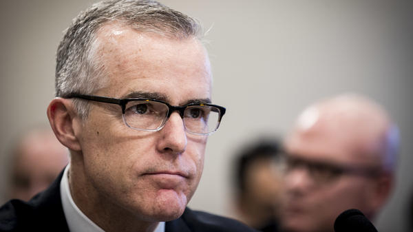 FBI Deputy Director Andrew McCabe testifying before a House Appropriations subcommittee meeting in June.