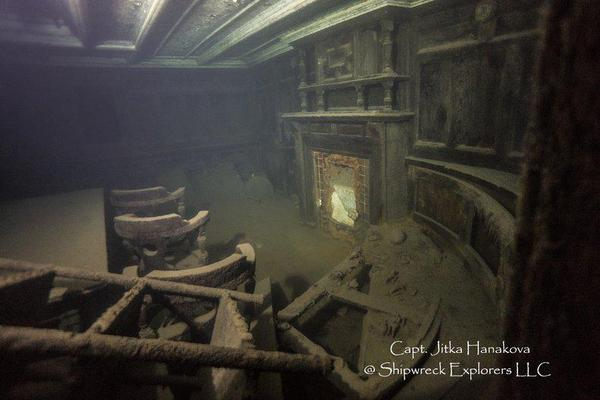 Gunilda, a luxury yacht, sank in 1911 in Lake Superior.