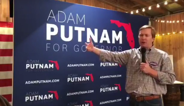 Adam Putnam at a campaign rally in November in Jacksonville