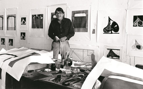 Over the course of more than 20 years, Richard Diebenkorn created 145 paintings for his Ocean Park series. Nearly 80 of those works created between 1967 and 1988 are on display at the Orange County Museum of Art in Southern California. Diebenkorn, pictured above in 1982, died in 1993.