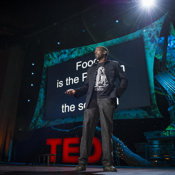 Ron Finley, renegade gardener, says food is both the problem and the solution.