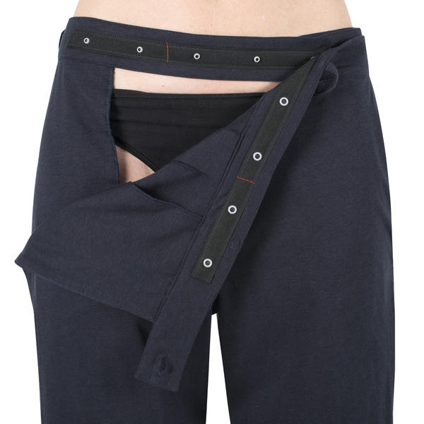 INGA Wellbeing women's jersey trousers groin access.