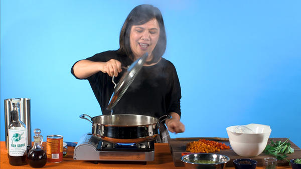 Chef and journalist Wilma Consul cooks picadillo, a dish she learned to make as a young girl in the Philippines.