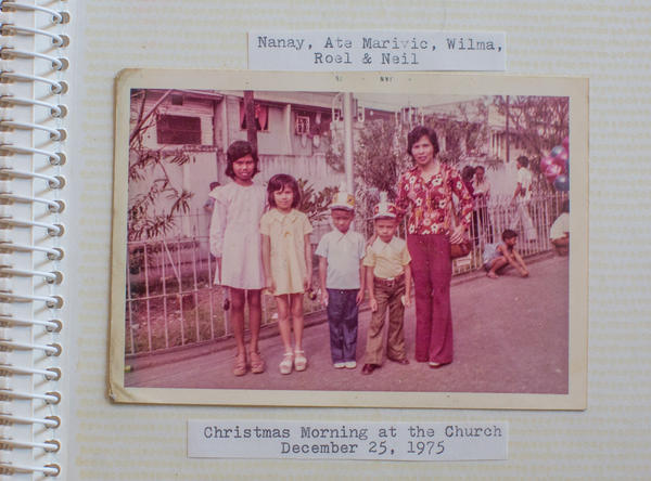 Wilma Consul, second from the left, poses for a picture with her mother, older sister and two younger brothers. She grew up in Manila.