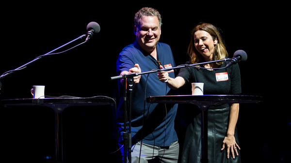 Jeff Garlin and Linda Cardellini on Ask Me Another.