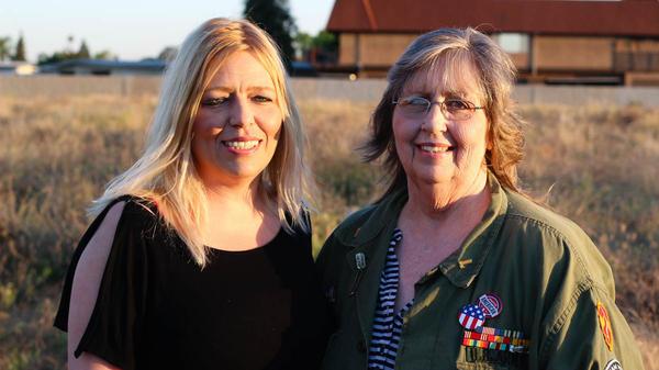 Kristin Glasgow and her mother Karen Offutt visited StoryCorps in Clovis, Calif.