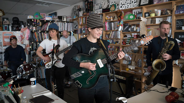 This is the Kit performs a Tiny Desk Concert on Dec. 5, 2017 (Jennifer Kerrigan/NPR).