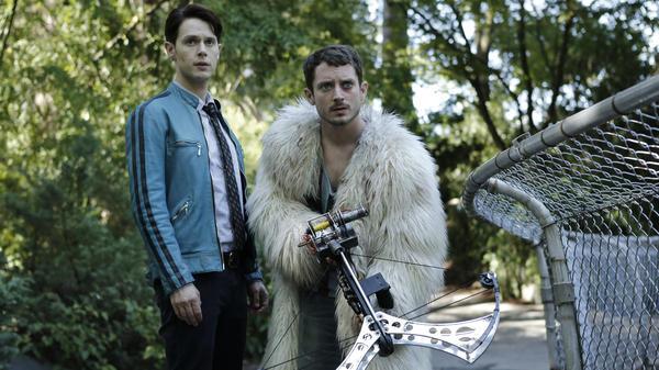 Samuel Barnett and Elijah Wood star in <em>Dirk Gently's Holistic Detective Agency</em>.