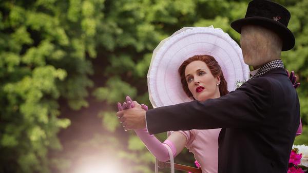 Gillian Anderson plays Media in <em>American Gods</em>.