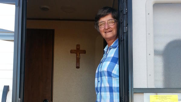 Fabritze of the Missionary Sisters of the Most Sacred Heart of Jesus lives and travels with the circus families, providing counseling and religious instruction. She says her most important role is a ministry of presence.