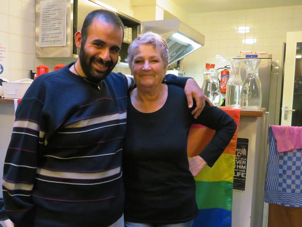 Elias Karam (left) and Carla Pieters work with Secret Garden, an Amsterdam nonprofit that tries to help LGBT asylum-seekers open up, even before the immigration interviews.