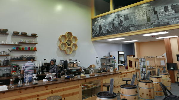"A view inside <a href=""https://www.facebook.com/QahwahHouse/"">Qahwah House</a>, a Yemeni coffee house in Dearborn, Mich. The city has a high concentration of Arabs and Arab-Americans (<em>qahwah</em> means coffee in Arabic)."