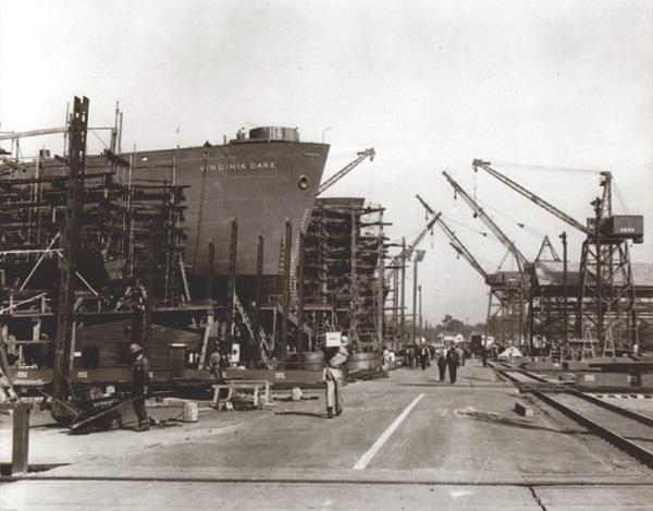More than 100,000 workers were injured during shipbuilding efforts along the Cape Fear River during World War II.