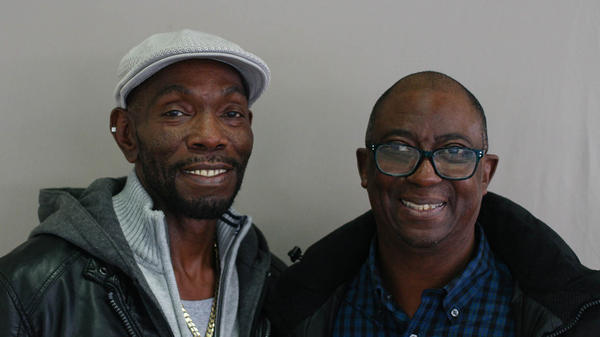 Rickey Jackson (left) and Eddie Vernon met one-on-one for the first time in 2014, after Eddie corrected his 1975 testimony (given when he was 12) that led to the wrongful conviction of Rickey and two other men.