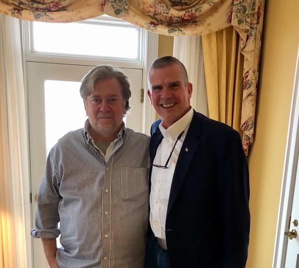 Republican U.S. Senate candidate Matt Rosendale recieved an endorsement from Steve Bannon in October 2017.