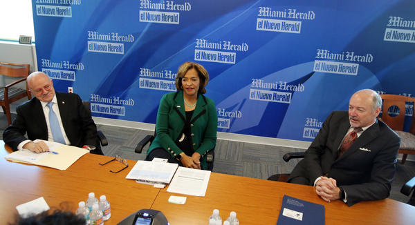 Presidents of the community colleges in Miami-Dade, Broward and Palm Beach counties argue against a major Senate higher education bill during a meeting with the Miami Herald editorial board.