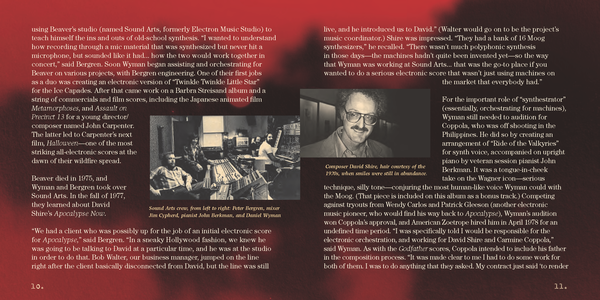 Liner notes from <em>David Shire's Apocalypse Now (The Unused Score).</em>