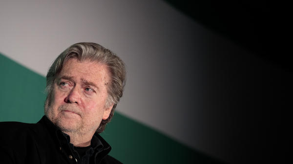Steve Bannon, former White House chief strategist and chairman of Breitbart News, attends a discussion on countering violent extremism in the Middle East on October 23, 2017 in Washington, D.C.