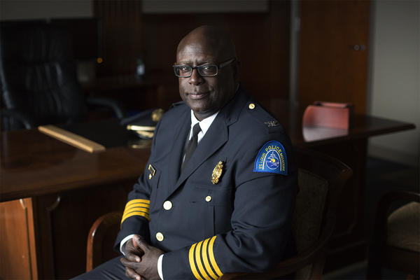 St. Louis Metropolitan Police Chief John Hayden says he was drawn to policing for its clearly defined mission. His mission as chief, he says is to tackle violent crime.
