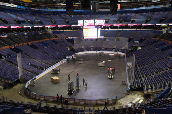 A settlement struck earlier this week between Comptroller Darlene Green and Kiel Center Partners removes the last legal barrier to upgrading the Scottrade Center, pictured here in January 2017.