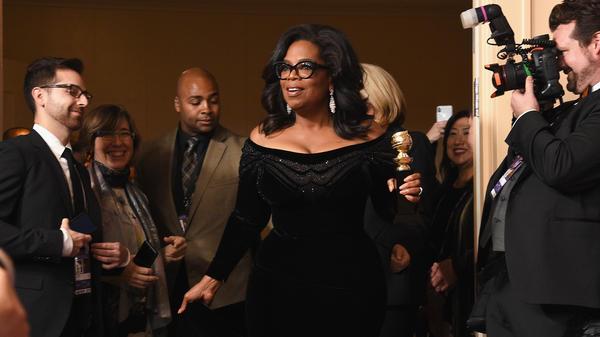 Oprah Winfrey, recipient of the Cecil B. DeMille Award, gave a rousing Golden Globes speech that spurred talk of a 2020 presidential run.