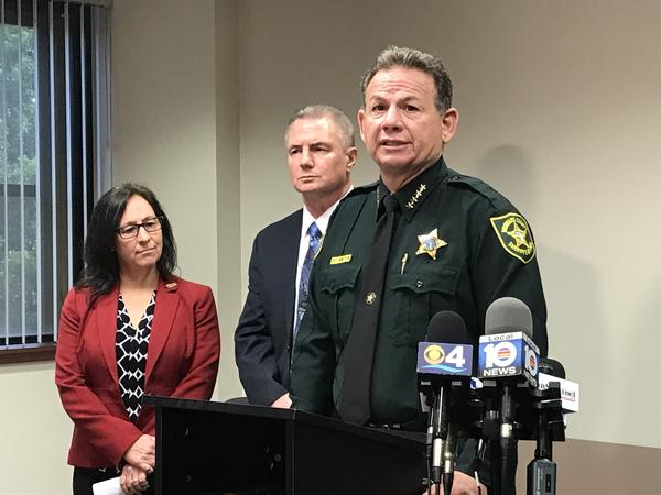 Broward Sheriff Scott Israel, right, speaks of the day of the FLL airport shooting just over a year ago. He supports the new ALERT Bill.