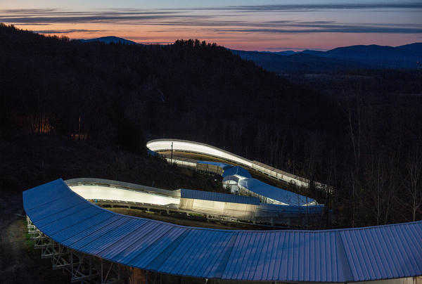 It takes elite skeleton athletes less than a minute to race down the mile-long, 20-curve track in Lake Placid, reaching speeds up to 90 miles an hour.<strong></strong>