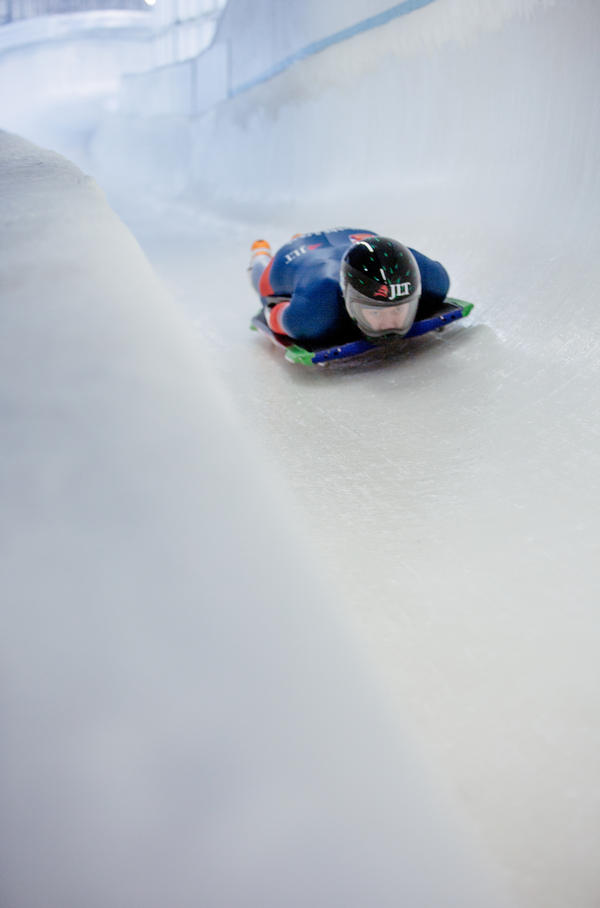 Olympic veterans and hopefuls in skeleton from countries around the world took practice runs in November in Lake Placid, N.Y., leading up to the bobsled and skeleton World Cup races.
