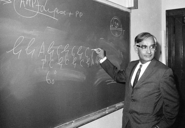 Har Gobind Khorana shared the Nobel Prize in 1968 for his discoveries about DNA.