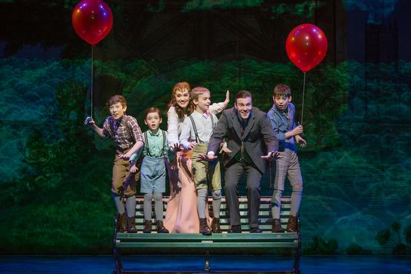 The cast of Finding Neverland at The Wharton Center.
