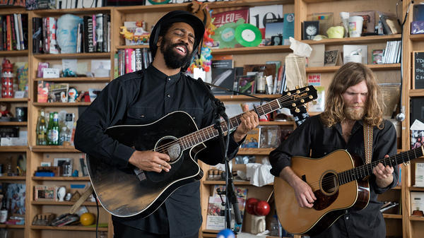 AHI performs a Tiny Desk Concert on Nov. 21, 2107 (Jennifer Kerrigan/NPR).
