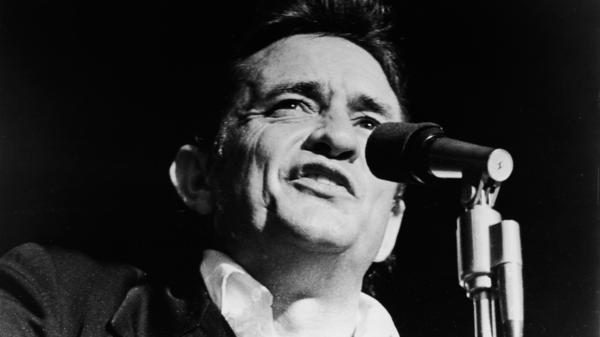 Johnny Cash in 1968. His album <em>At Folsom Prison</em>, recorded that year in a California penitentiary, rebooted his career and became a critical favorite.