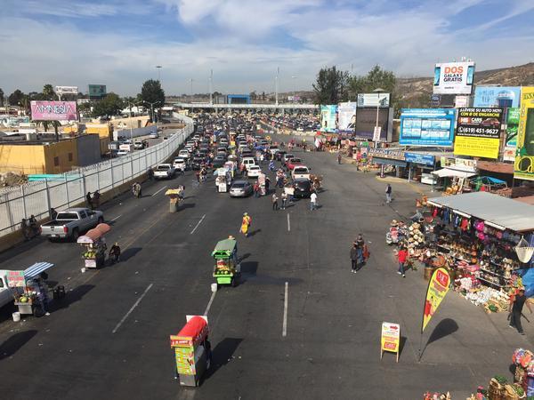 A border crossing in Tijuana, Mexico.