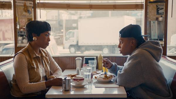 "Lena Waithe's character, Denise, comes out to her mother (played by Angela Bassett) in the ""Thanksgiving"" episode of <em>Master of None</em>."