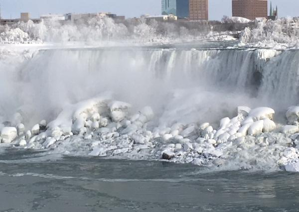Ice on the American Falls at Niagara Falls