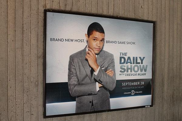 "Trevor Noah hosts ""The Daily Show,"" a satirical news program on Comedy Central."