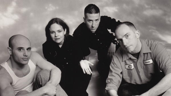 Jawbox. From left: drummer Zach Barocas; bassist Kim Coletta; guitarist Bill Barbot; singer and vocalist J. Robbins.