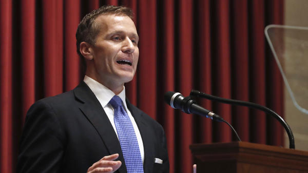 "Missouri Gov. Eric Greitens delivers the annual State of the State address on Jan. 8. Responding to a news report that overshadowed the speech, Greitens acknowledged he had been ""unfaithful"" in his marriage but denied allegations that he blackmailed the woman to stay quiet."