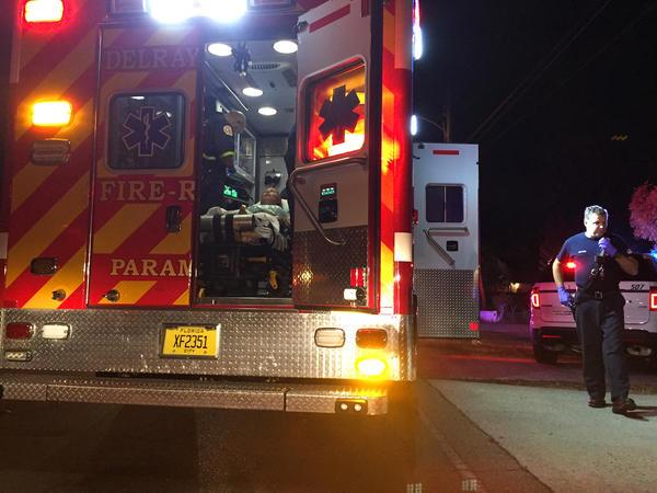 Delray Beach Fire Rescue paramedics transport an overdose victim to the hospital. Nov. 18, 2016.