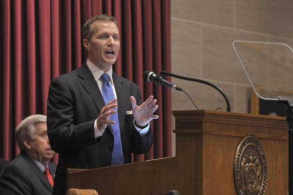 Gov. Eric Greitens delivers the 2018 State of the State address in Jefferson City.