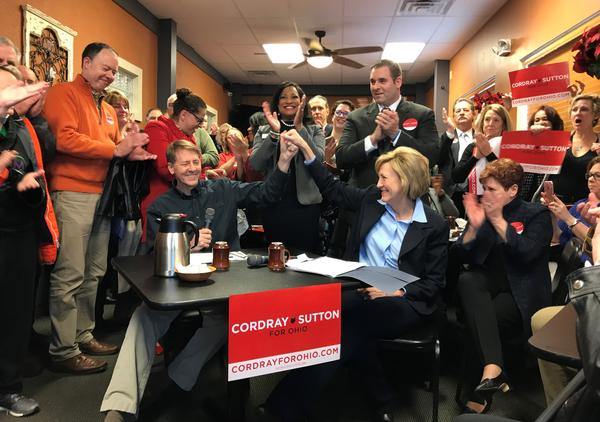 Richard Cordray and Betty Sutton formally announced they're going from rivals to running mates. Sutton is expected to help Cordray, a central Ohioan, in Democratic-heavy Northeast Ohio.
