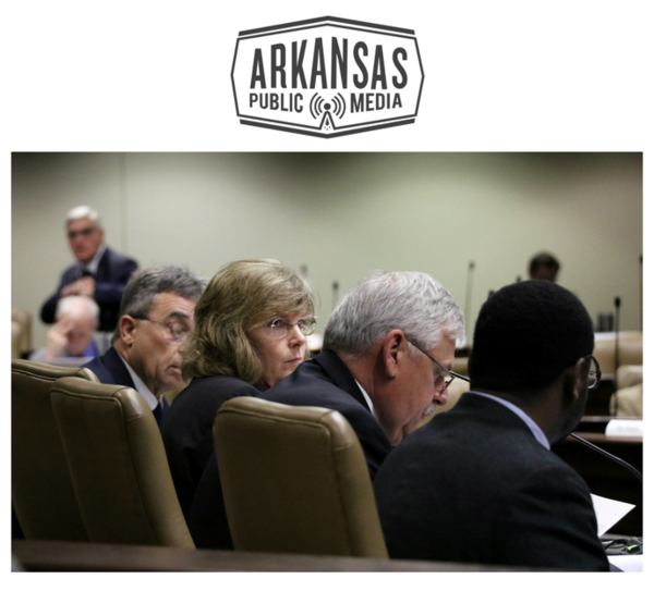 Arkansas Department of Corrections chief Wendy Kelley (second from left) and her staff testify before the state legislature's Joint Budget Committee Jan. 10.