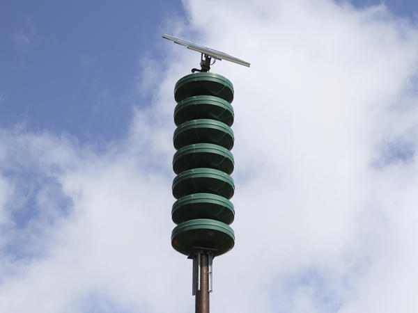 A Hawaii Civil Defense Warning Device will sound an alarm during natural disasters. In December, the Hawaii Emergency Management Agency tested a statewide alert tone signaling nuclear threat.