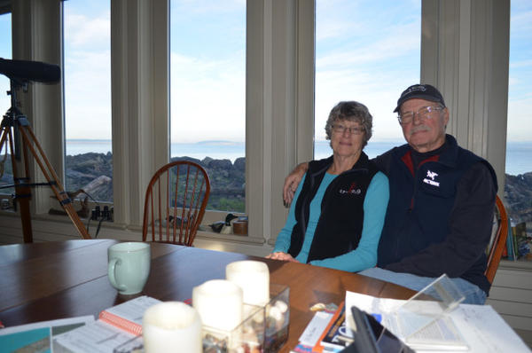 <p>Tom and Marie Cawrse live right next on the beach in Port Townsend.</p>