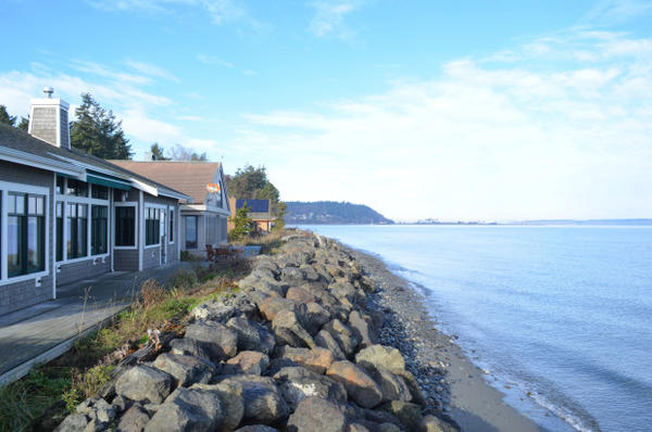 <p>The Cawrses say the ocean is getting closer and closer to their Port Townsend home.</p>