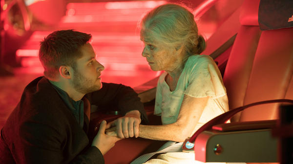 "Jack Reynor and Geraldine Chaplin star in the ""Impossible Planet"" episode of the Amazon series <em>Electric Dreams.</em>"
