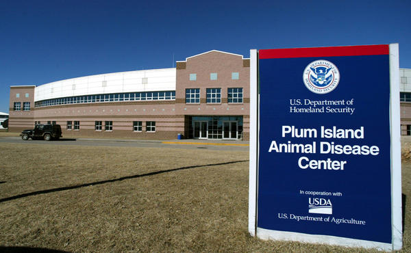 The Plum Island Animal Disease Center on Plum Island off of the east coast of New York's Long Island is shown in 2004.